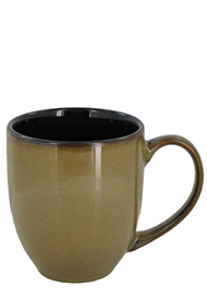 15 oz bistro coffee mug - retro glaze