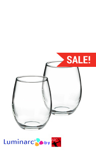 5.5 oz perfection stemless wine glass MADE IN USA