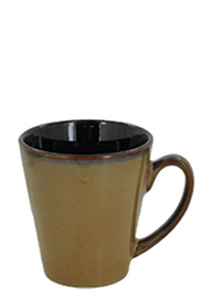 12 oz Funnel Coffee Mug - retro glaze