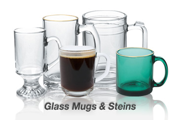 cheap glass mugs, steins sale