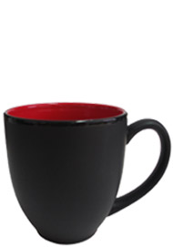 15 oz hilo bistro matte black out/gloss red in