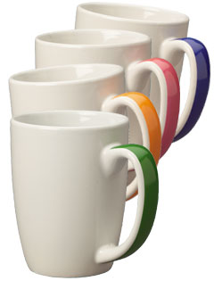 11 oz Accent Challenger Color Handle Mugs