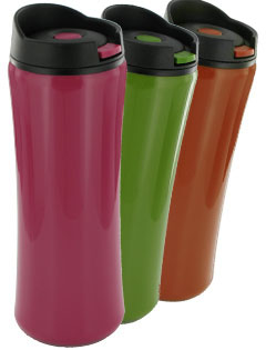 14 oz Clicker Travel Coffee Mug - BPA Free