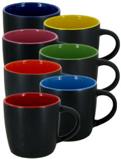 12 oz. effect two tone mugs