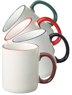 12 oz Halo C-handle Mugs