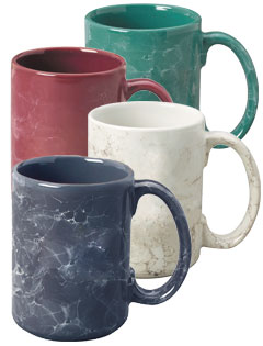 15 oz Marbleized El Grande Ceramic Mug