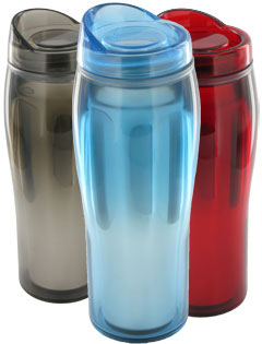 14 oz Optima Chrome Travel Mug - BPA Free