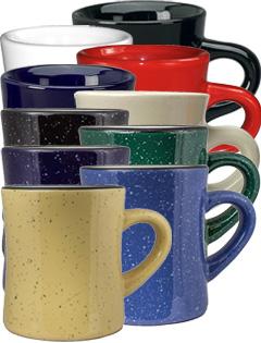 10 Oz Santa Fe Diner Mugs Speckled Exterior Design