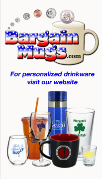 imprinted wine glasses, personalized  coffee mugs