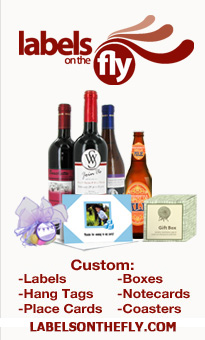 custom labels, wine tags, bottle labels, coasters, bag toppers