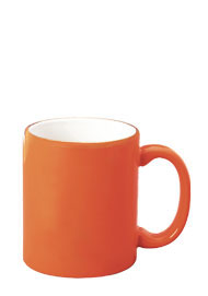 11 oz c-handle coffee mug - orange out