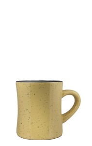 10 oz Santa Fe Diner Mug, Sand colored exterior and White Interior