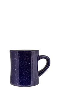 10 oz Santa Fe Diner Mug, Cobalt Blue colored exterior and White Interior