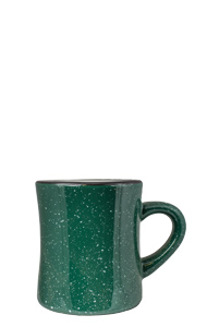 10 oz Santa Fe Diner Mug, Green colored exterior and White Interior