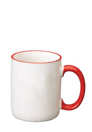 12 oz halo c-handle coffee mug - red