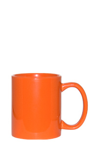 11 oz c-handle coffee mug - Orange