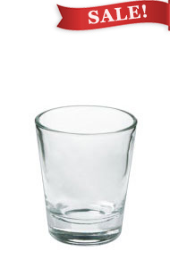 1.5 oz shot glass - clear
