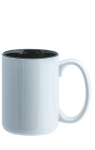 15 oz el grande two-tone ceramic mug - white out gloss black in