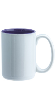 15 oz el grande two-tone ceramic mug - white out gloss purple in