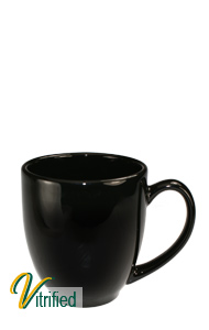 15 oz cancun bistro coffee mug - Black - Vitrified