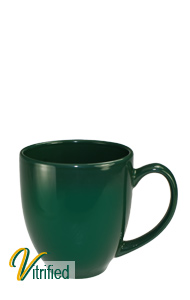 15 oz cancun bistro coffee mug - Hunter Green - Vitrified