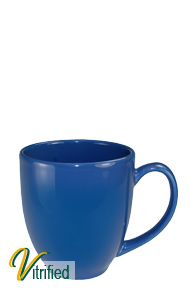 15 oz cancun bistro coffee mug - Ocean Blue - Vitrified