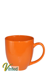 15 oz cancun bistro coffee mug - California Orange - Vitrified