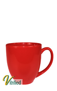 15 oz cancun bistro coffee mug - Stanford Red - Vitrified