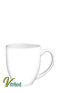 15 oz cancun bistro coffee mug - white - Vitrified