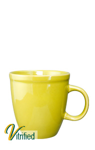 17 oz Glossy Yellow Mocha Bistro Mug - Vitrified