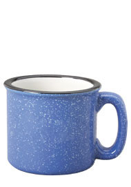 15 oz campfire stoneware mug - lt blue out