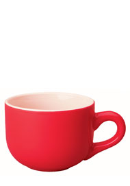 16 oz cappuccino soup mug - red