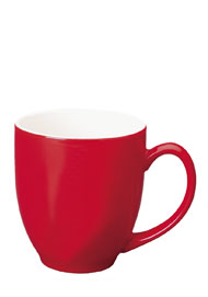 15 oz bistro coffee mug - red out