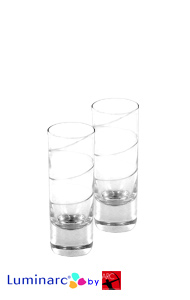 2 oz Aurora Tall Shot Glass Cordial w/Inside Swirl