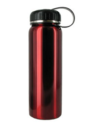 26 oz red quest stainless steel sports bottle