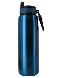 26 oz blue quench stainless steel sports bottle