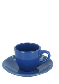3.5 oz espresso cup with saucer - celestial blue