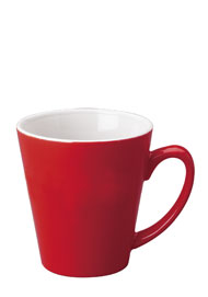12 oz tulsa latte mug - red out