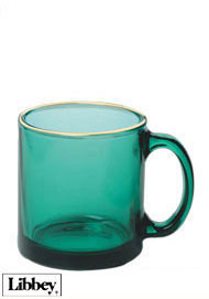 13 ounces Libbey juniper green glass mug  MADE IN USA