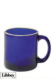 13 ounces Libbey cobalt blue glass mug  MADE IN USA