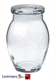 16 oz san tropez glass jar w/flat lid