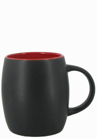 14 oz Robustot matte finish mug - black/red