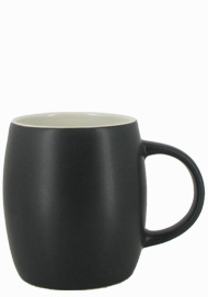 14 oz Robustot matte finish mug - black/white