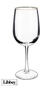 18.5 ounces Libbey vina tall wine glass MADE IN USA