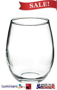 9 oz perfection stemless wine glasses MADE IN USA