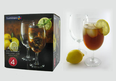 4-pc 15.75 oz alto iced beverage glasses