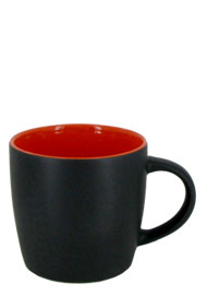 12 oz effect matte finish mug - black/orange