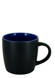 12 oz effect matte finish mug - black/ocean blue