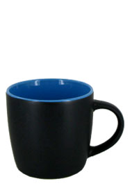 12 oz effect matte finish mug - black/sky blue
