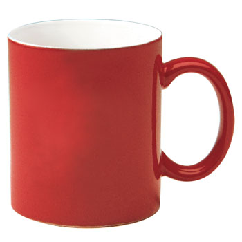 11 oz c-handle coffee mug - red out